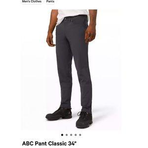 Lululemon ABC Pants Classic 34' (L) size 30' waist